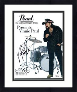 VINNIE PAUL HAND SIGNED 8x10 COLOR PHOTO+COA        PANTERA+HELLYEAH DRUMMER