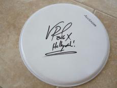 "Vinnie Paul Hellyeah Signed Autographed 13"" Drumhead PSA Guaranteed #1"
