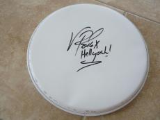 "Vinnie Paul Hellyeah Signed Autographed 13"" Drumhead PSA Guaranteed #3"