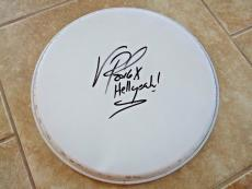 "Vinnie Paul Hellyeah Signed Autographed 13"" Drumhead PSA Guaranteed #4"