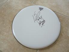 "Vinnie Paul Hellyeah Signed Autographed 14"" Drumhead PSA Guaranteed #2"