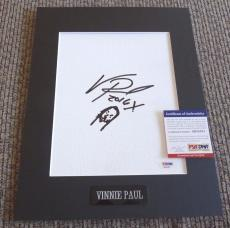 Vinnie Paul Pantera Signed Autographed Matted 11x14 Face Sketch PSA Certified