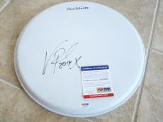 "Vinnie Paul Pantera Signed Autographed PSA Certified 13"" Drumhead #2"