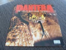 Vinnie Paul Phil Anselmo Pantera Autographed Signed LP Poster PSA Guaranteed #1