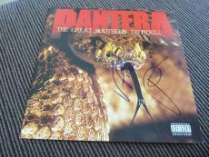 Vinnie Paul Phil Anselmo Pantera Autographed Signed LP Poster PSA Guaranteed #2