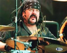 VINNIE PAUL SIGNED 8x10 PHOTO DRUMMER PANTERA HELLYEAH HEAVY METAL BECKETT BAS