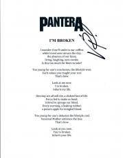 Vinnie Paul Signed Autographed Pantera I'M BROKEN Song Lyric Sheet COA