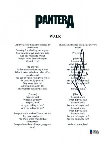 Pantera Memorabilia: Autographed Albums & Signed Instruments