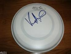 """Vinny Appice Signed Autographed Signature 8"""" Drumhead"""