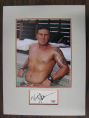 Vinny Guadagnino Jersey Shore Signed Index Card w/Matted Photo PSA/DNA #P53376