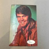 Vintage 1960's Glen Campbell Signed Autographed Original Postcard With JSA COA