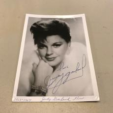 Vintage 1960's Judy Garland Dorothy The Wizard Of Oz Signed Autographed Photo