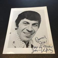 Vintage 1960's Leonard Nimoy Star Trek Signed Autographed Photo