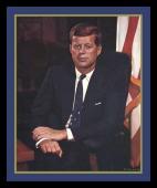 Vintage 1961 John F. Kennedy Inauguration Framed Portrait