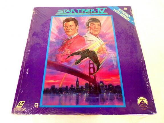 VINTAGE 1989 Star Trek IV Voyage Home Laser Disc William Shatner L Nimoy