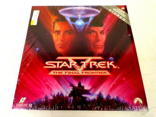 VINTAGE 1989 Star Trek V Final Frontier Laser Disc William Shatner L Nimoy