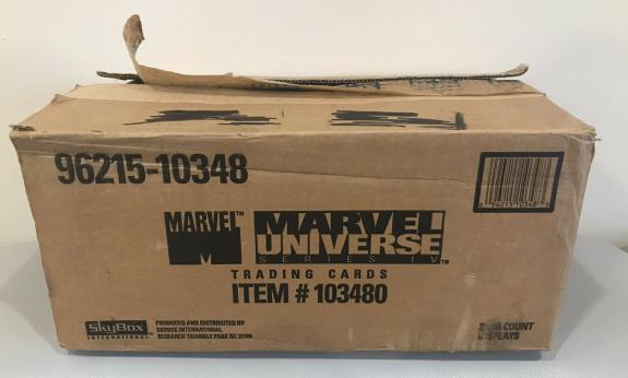 Vintage 1993 Marvel Universe Series 4 Trading Cards Empty Case Box Cool Rare
