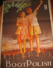 "Vintage Bollywood Poster Bombay 7 ""Boot Polish"" 1954"