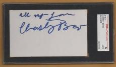 vintage CHASTITY BONO signed 3 X 5 INDEX CARD - encapsulated
