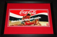 Vintage Coca Cola Coke Smile Framed 11x14 Poster Display Official Repro