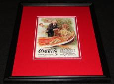 Vintage Coca Cola Delicious Beverage Framed 11x14 Poster Display Official Repro