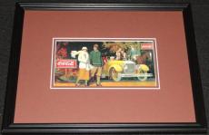 Vintage Coca Cola Delicious Refreshing Framed Poster Display Official Repro B