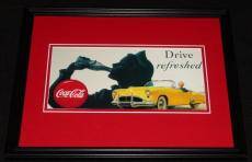 Vintage Coca Cola Drive Refreshed Framed 11x14 Poster Official Repro
