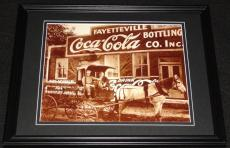 Vintage Coca Cola Fayetteville Bottling Framed 11x14 Poster Display Official Rep