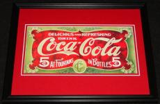 Vintage Coca Cola Fountains & Bottles Framed 11x14 Poster Display Official Repro