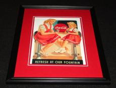 Vintage Coca Cola Refresh at Our Fountain Framed 11x14 Poster Official Repro