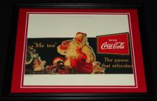 Vintage Coca Cola Santa Claus Framed 11x14 Poster Official Repro