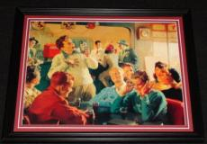 Vintage Coca Cola Singing at Diner Framed 11x14 Poster Display Official Repro
