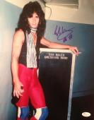 Vintage-EDDIE VAN HALEN signed 11x14 photo-PERFECT Signature- JSA N029025