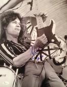 VINTAGE-EDDIE VAN HALEN signed 11x14 photo-PERFECT Signature- JSA N029030