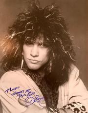 VINTAGE- JON BON JOVI signed 11x14 photo with special inscription-JSA Letter