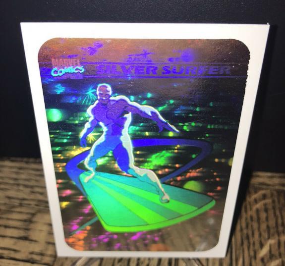 Vintage Marvel 1990 Impel Silver Surfer Hologram Trading Card Authentic Rare 1