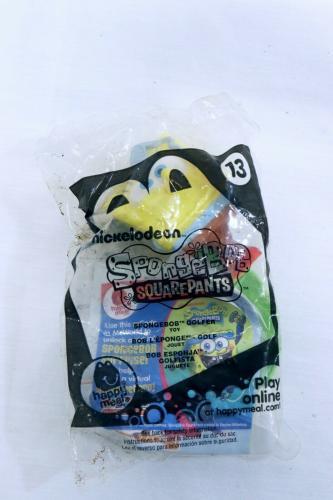 VINTAGE SEALED 2012 McDonald's SpongeBob SquarePants #13 Golfer Toy
