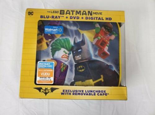 VINTAGE SEALED 2017 Lego Batman Bluray DVD & Lunchbox Box Set Walmart Exclusive