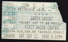 Vintage Sept. 12 1998 Garth Brooks Ticket Stub Philadelphia, PA First Union Cent
