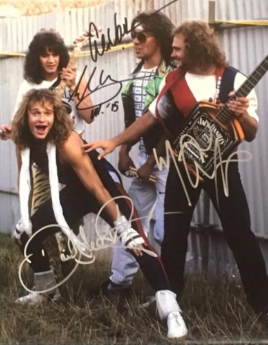 Vintage VAN HALEN 11x14 signed/autographed  by all 4 original band members
