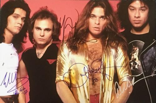 Vintage VAN HALEN 12x18 signed/autographed  by all 4 original band members