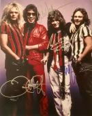 Vintage VAN HALEN authentic signed 11x14 photo signed by ALL 4 Original Members