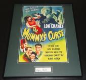 Virginia Christine Signed Framed 16x20 Photo Display JSA The Mummy's Curse