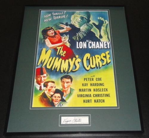 Virginia Christine Signed Framed 16x20 Photo Display JSA The Mummy's Curse