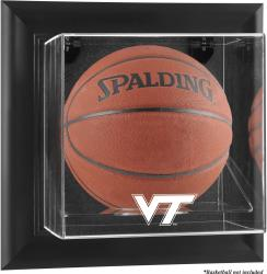 Virginia Tech Hokies Black Framed Logo Wall-Mountable Basketball Display Case