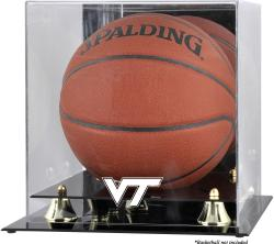 Virginia Tech Hokies Golden Classic Logo Basketball Display Case with Mirror Back
