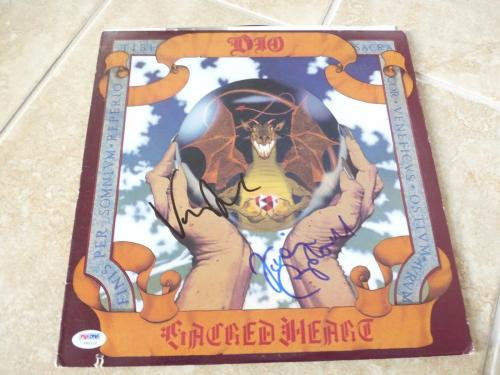 Vivian Campbell & Vinny Appice Dio Signed Autographed LP Record PSA Certified 1