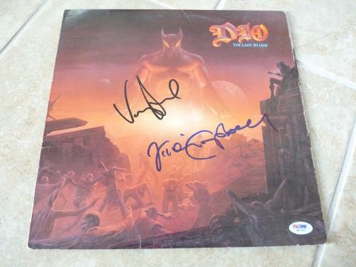 Vivian Campbell & Vinny Appice Dio Signed Autographed LP Record PSA Certified 2
