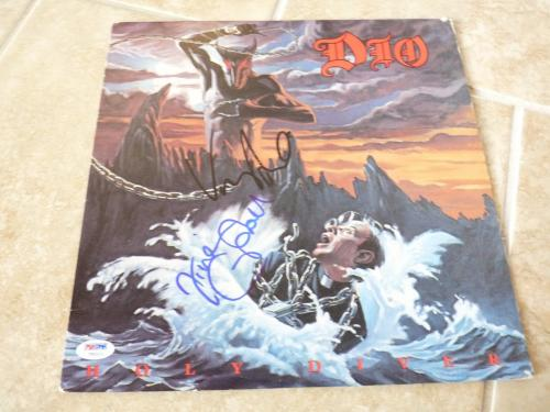 Vivian Campbell & Vinny Appice Dio Signed Autographed LP Record PSA Certified 3