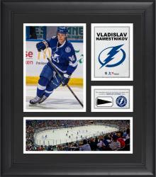 "Vladislav Namestnikov Tampa Bay Lightning Framed 15"" x 17"" Collage with Piece of Game-Used Puck"